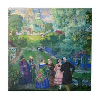 Kustodiev: Summer-Province artwork Tile