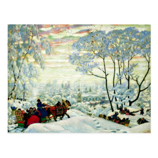 Kustodiev - Winter Postcard