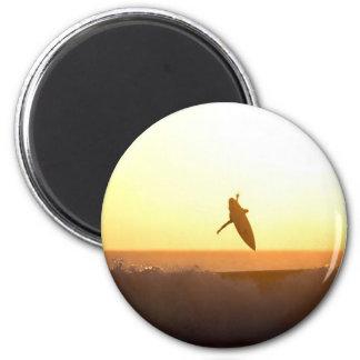 Kuta Beach surfing sunset Magnet