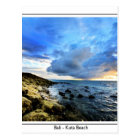 Kuta in a storm postcard