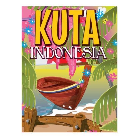 Kuta Indonesia travel poster Postcard