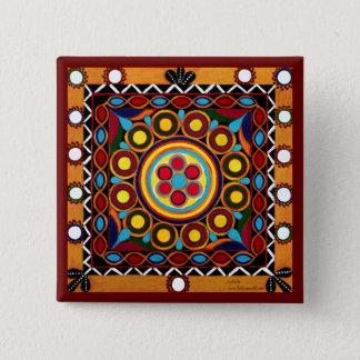 Kutch Embroidery-Mini Exotic Global Art Tile Pin