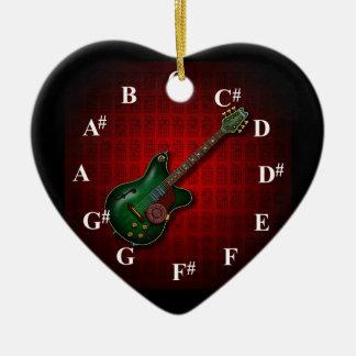 KuuMa Guitar Clock Ceramic Heart Ornament