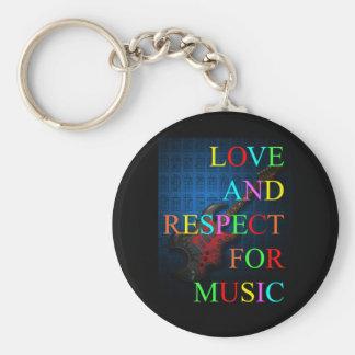 KuuMa Guitar Love 03 Basic Round Button Keychain