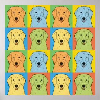 Kuvasz Dog Cartoon Pop-Art Poster