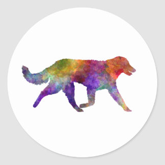 Kuvasz in watercolor 2 classic round sticker