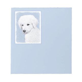 Kuvasz Painting - Cute Original Dog Art Notepad