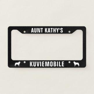 Kuvasz Silhouettes Kuviemobile Custom License Plate Frame