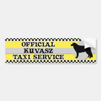 Kuvasz Taxi Service Bumper Sticker