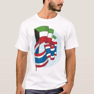 Kuwait And Thailand Flag Mens T-Shirt