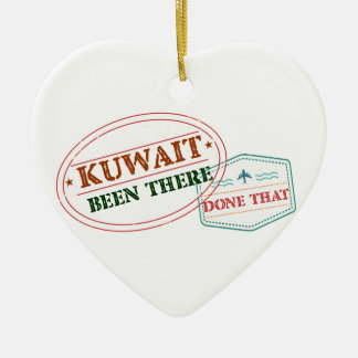 Kuwait Been There Done That Ceramic Heart Ornament