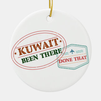 Kuwait Been There Done That Round Ceramic Ornament