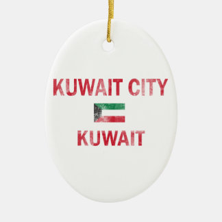 Kuwait City Kuwait designs Ceramic Oval Ornament