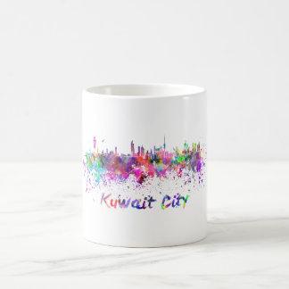 Kuwait City skyline in watercolor Coffee Mug
