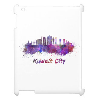 Kuwait City V2 skyline in watercolor Case For The iPad