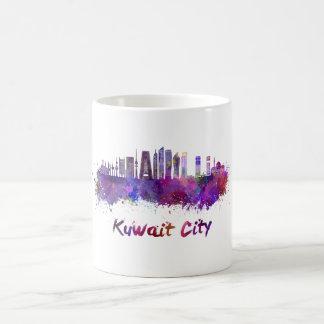 Kuwait City V2 skyline in watercolor Coffee Mug