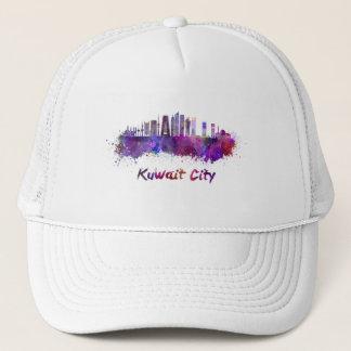 Kuwait City V2 skyline in watercolor Trucker Hat