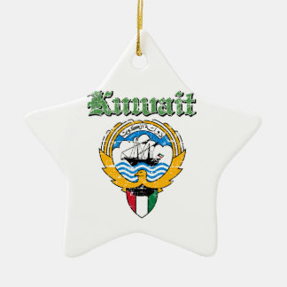 Kuwait coat of arms designs ceramic star ornament