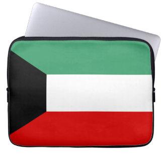 Kuwait country long flag nation symbol republic laptop sleeve