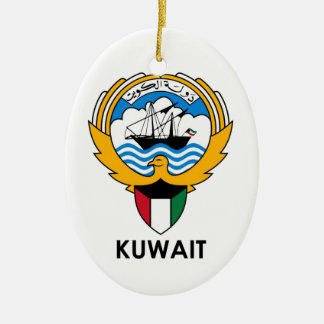 KUWAIT - emblem/flag/coat of arms/symbol Ceramic Oval Ornament