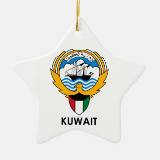KUWAIT - emblem/flag/coat of arms/symbol Ceramic Star Ornament
