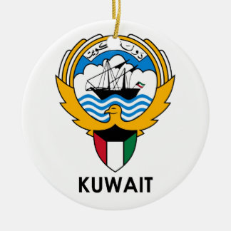 KUWAIT - emblem/flag/coat of arms/symbol Round Ceramic Ornament