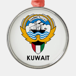 KUWAIT - emblem/flag/coat of arms/symbol Silver-Colored Round Ornament