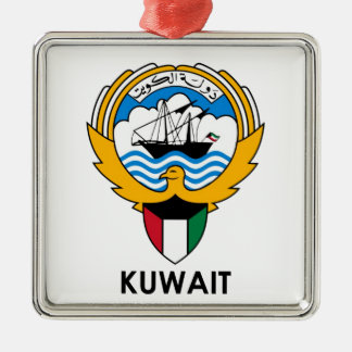 KUWAIT - emblem/flag/coat of arms/symbol Silver-Colored Square Ornament