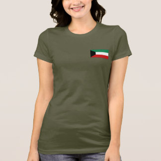 Kuwait Flag and Map dk T-Shirt
