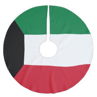 Kuwait Flag Brushed Polyester Tree Skirt