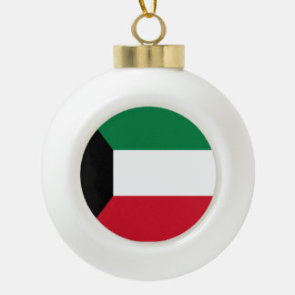 Kuwait Flag Ceramic Ball Ornament