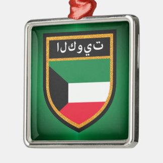 Kuwait Flag Metal Ornament