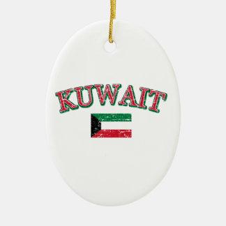 Kuwait football design ceramic ornament