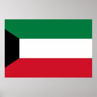 Kuwait, Kenya flag Poster