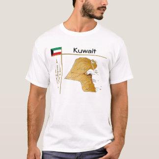 Kuwait Map + Flag + Title T-Shirt