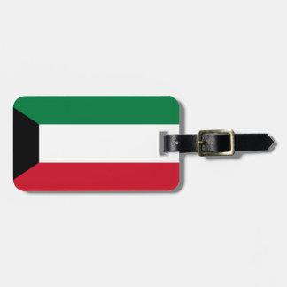 Kuwait National World Flag Luggage Tag