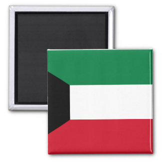 Kuwait National World Flag Magnet