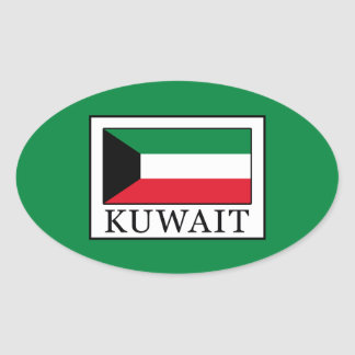 Kuwait Oval Sticker