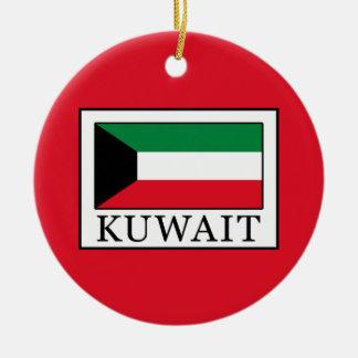 Kuwait Round Ceramic Ornament