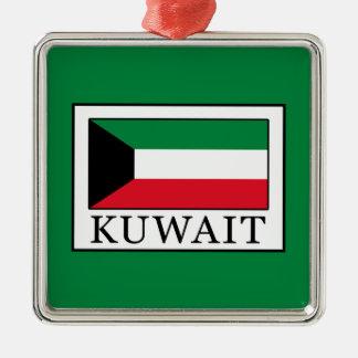Kuwait Silver-Colored Square Ornament