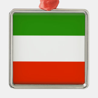 Kuwait Silver-Colored Square Ornament
