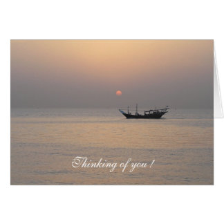 "Kuwait Sundown ""Thinking of You! Greeting Card"