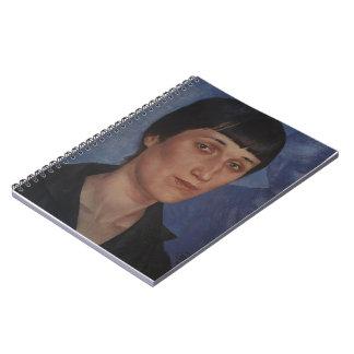 Kuzma Petrov-Vodkin- Portrait of Anna Akhmatova Spiral Notebook