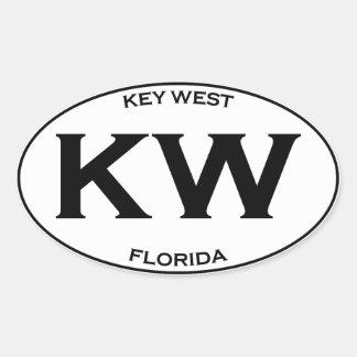 KW-Kew West Florida Oval Sticker