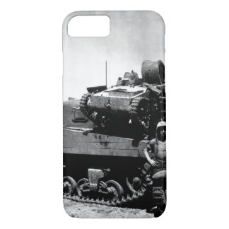 Kwajalein Atoll. Pfc. N.E. Carling stands beside iPhone 7 Case