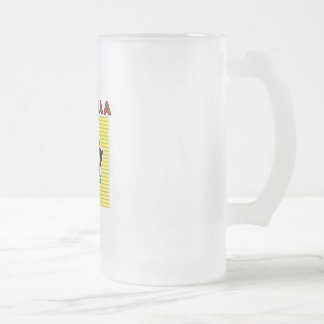 Kwanzaa 16 Oz Frosted Glass Beer Mug