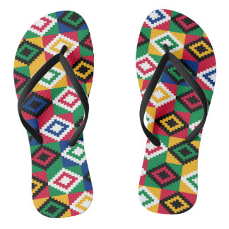 Kwanzaa African Geometric Print (3) Flip Flops