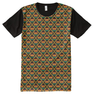Kwanzaa Black Yellow Green Red African Kente Cloth