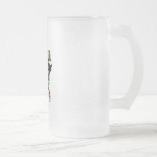 Kwanzaa Blood People Land Frosted Glass Mug