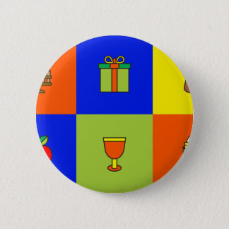 kwanzaa colorblock 2 inch round button